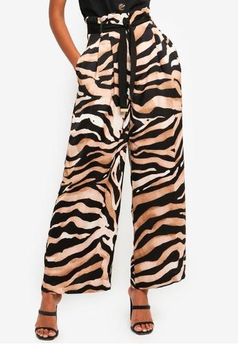 River Island multi Tiger Print Wide Leg Trousers - Matching Set 14B0CAA54CBC26GS_1