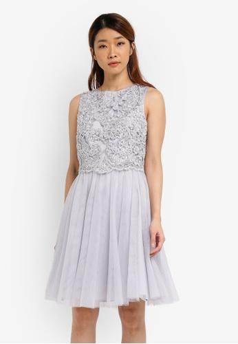 Dorothy Perkins grey Dove Lola Dress DO816AA0SJ68MY_1