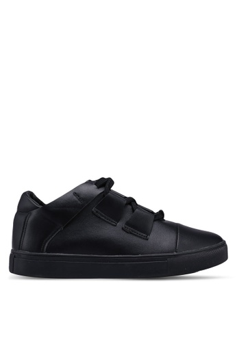 Something Borrowed black Cross Straps Sneakers 5C1E3SH37C2574GS_1