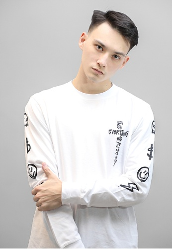 F.E.A.R white FEAR FACE EVERYTHING AND RISE LONG SLEEVE (WHITE) 4FB06AA99FA00EGS_1