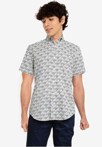 Ben Sherman blue Retro Print Shirt 0B753AA6515498GS_1