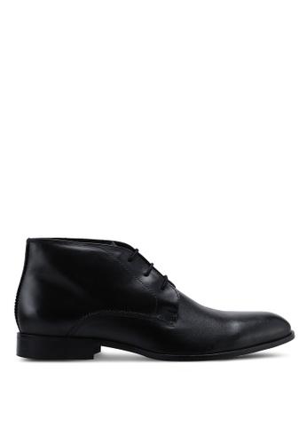 Burton Menswear London 黑色 皮革踝靴 5A390SH0743209GS_1