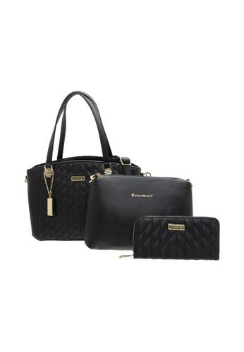 LancasterPolo black Lancaster Polo Celia Handbag (3 in 1 Set) 17F94ACB926860GS_1