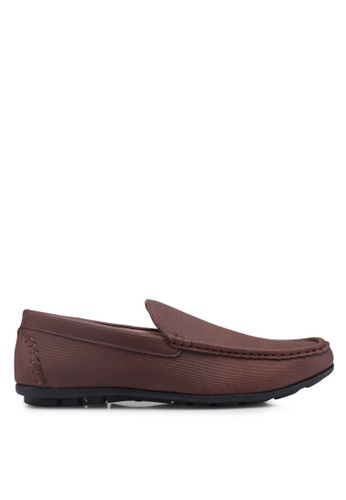 Bata brown Slide-On Loafers 6534BSH8160C3BGS_1