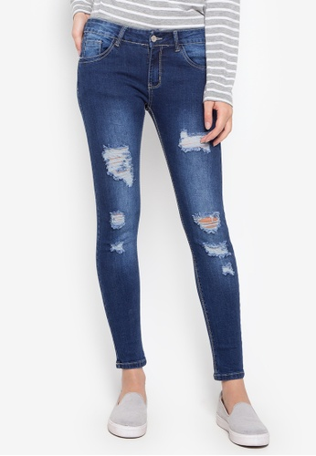 Balaynor blue Fashion Distressed Skinny Jeans 53334AA1DABA32GS_1