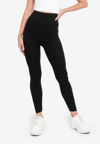 H&M black Seamless Leggings BA87DAAA89F836GS_1