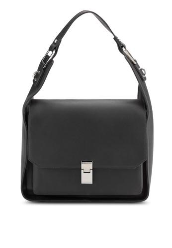 ZALORA Large Flap Hobo Bag