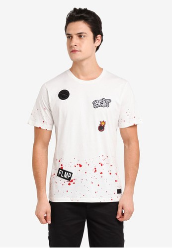 Flesh Imp white Beat Patches T-Shirt 51454AAF241AF8GS_1