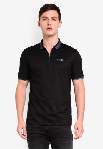 Burton Menswear London 黑色 短袖POLO衫 3CD4FAA931AD73GS_1