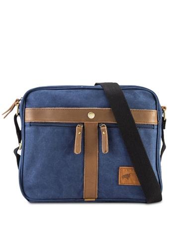 RAV Design blue Canvas Sling Bag RA113AC04IZRMY_1