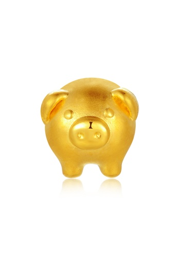 MaBelle gold Piggy Bank Gold Baby Charm (Free Red String) 9801AACDC8C827GS_1
