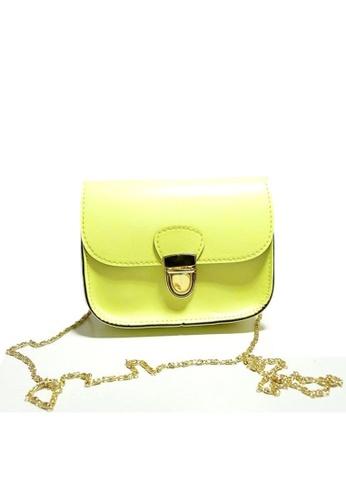 Jackbox yellow Korean Fashion PU Leather Gadget Sling Bag 318 (Yellow) JA762AC65OTQMY_1