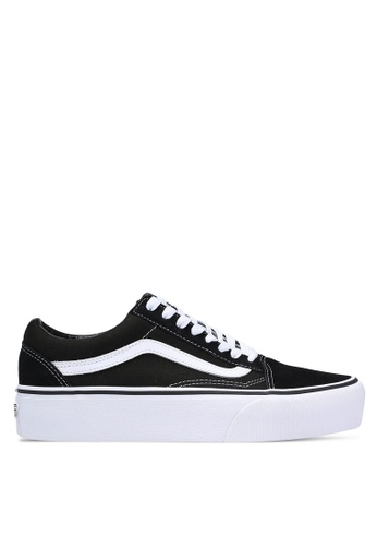 VANS black Old Skool Platform Sneakers D32F4SH8080013GS_1