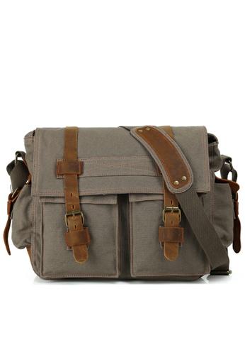 Twenty Eight Shoes Vintage Leather Wax Canvas Messenger Bags2138 C6221AC44E54C3GS_1