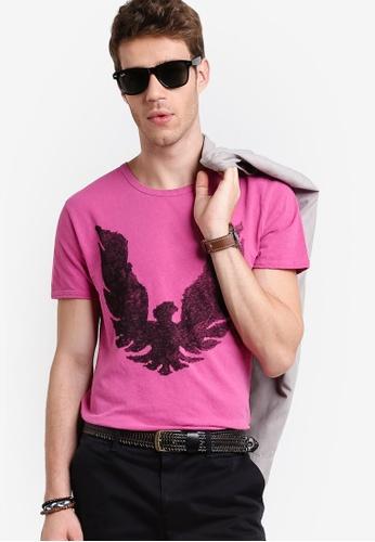 Boss Orange pink Touchback 2 T-Shirt BO434AA12MFZMY_1