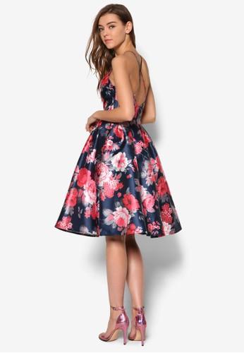 Eliana esprit官網削背印花洋裝, 服飾, 洋裝