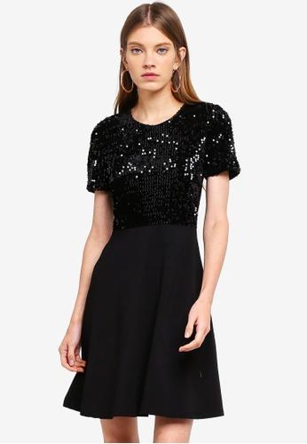 959b755a5ecf Dorothy Perkins black Black Sequin Top Dress 7B8B8AA40A92B6GS 1
