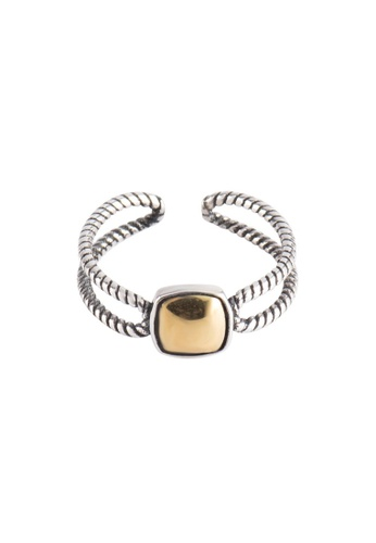 OrBeing white Premium S925 Sliver Geometric Ring 5F001ACD45CB5EGS_1