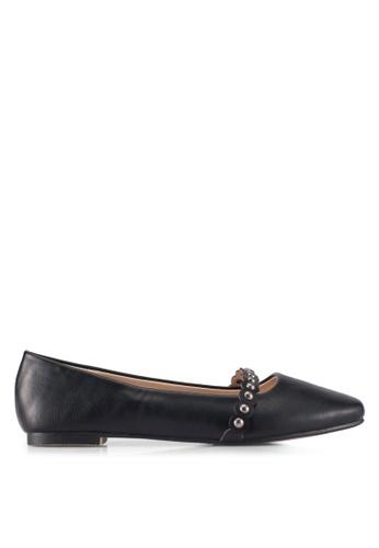 ZALORA black Studded Detail Flats 6860CSHE09E33FGS_1