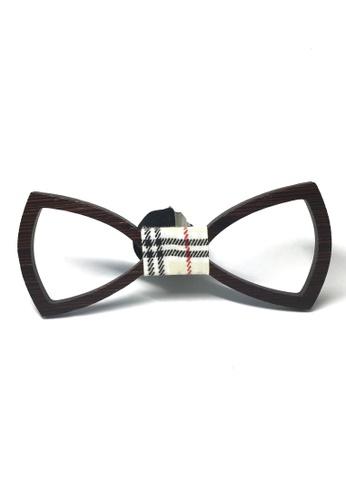 Splice Cufflinks brown Hollow Grove Series Walnut Wood Colour Bow Tie SP744AC80FIXSG_1