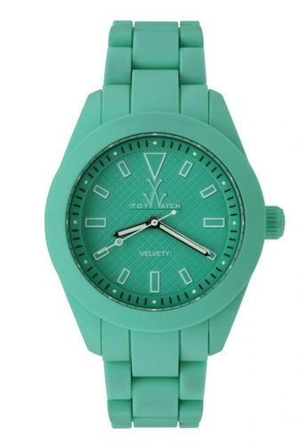 ToyWatch green Velverty Collection Aqua Green Slicone Rubber Strap Unisex Watch TO276AC26CPLMY_1