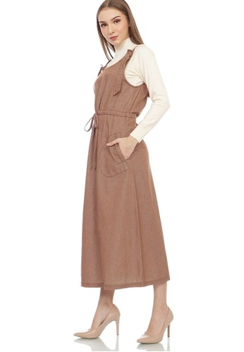 GRAPHIS brown Eyelet Overall 8035BAABB58EA1GS_1