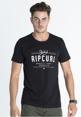 Rip Curl Lettering Boardwalk Tee Men Black