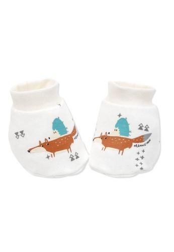 Organic mom beige Animal Buddies Socks (FALL/WINTER) 3F9B3KA23166EBGS_1