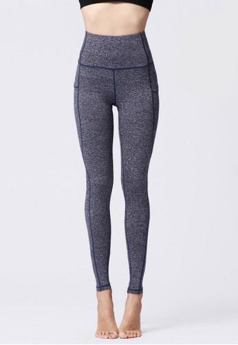 B-Code blue ZYG3068-Lady Quick Drying Running Fitness Yoga Sports Leggings -Blue 54048AA243254BGS_1