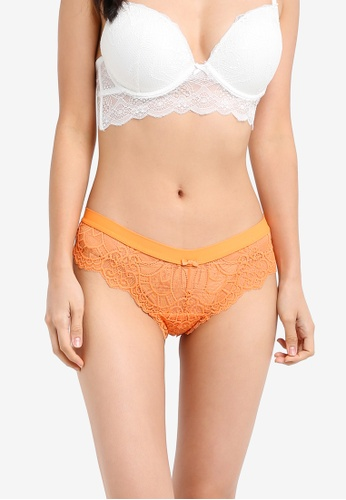 Cotton On Body orange and multi Candice Brasiliano Brief CO561US0SIJRMY_1