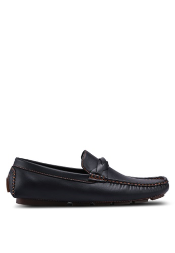 UniqTee black Loafers with Strap Detail B72D3SHC0D0EEFGS_1