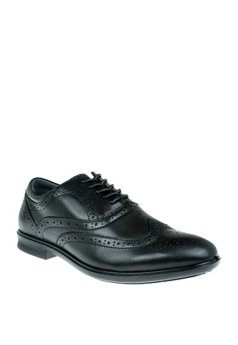 Hush Puppies black Mens Dress Shoes Parker Wing Tip EED18SHE5BABEEGS_1