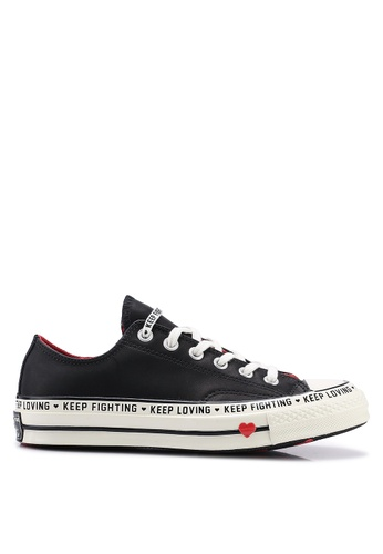 71cd0855f122 Converse black Chuck Taylor All Star 70 Love The Progress Ox Sneakers  3C35FSH3D136FFGS 1