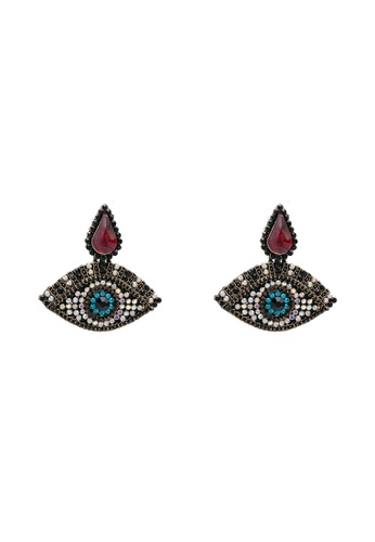 Red's Revenge red Bindi Eyes Statement Earrings E5F07ACF639018GS_1