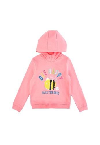 MARKS & SPENCER pink Sequin Bee Happy Slogan Hoodie 4321FKAD5289DCGS_1
