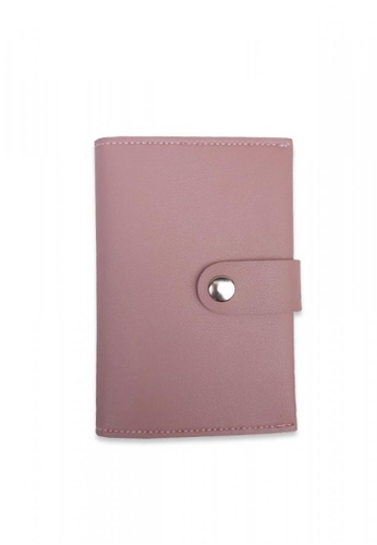 Louiebelle Collection pink Louise Passport Wallet with Lock 67259ACE0BF961GS_1