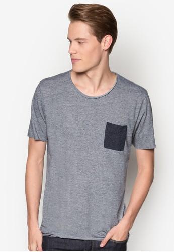 撞色口袋T 恤, 服飾esprit 衣服, T恤