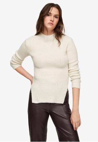 Mango beige Ribbed Knit Sweater 4C35FAA74FC318GS_1