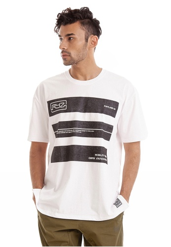RYZ white RYZ Washed Out Block White Short Sleeve T-shirt. 0A721AAFDBB1DAGS_1