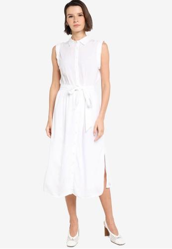 Banana Republic white Tie Waist Midi Shirt Dress B3235AA284A1F7GS_1