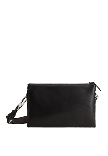 Mango black Leather Cross Body Bag D6319ACE5E6874GS_1