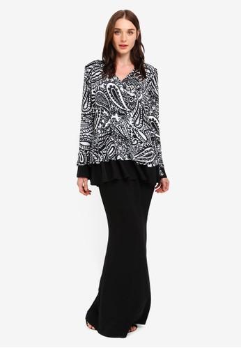 Zuco Fashion black Peplum W Kimono Style Top Dress C58FCAA8AA8E57GS_1