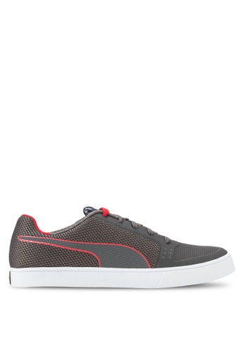 Puma grey and red IRBR Wings Vulc Sneakers PU549SH14NDHMY_1