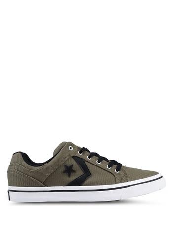 b70cdd30e645 Converse green EL Distrito Star Eclipse Ox Sneakers 1FF31SHB386CBDGS 1