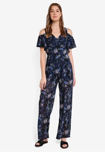 OVS blue and multi Floral Print Jumpsuit D7B3DAAB0BD1E0GS_1