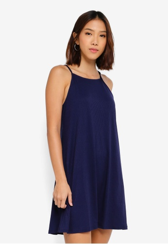 Cotton On navy Sasha High Neck Swing Dress 48413AAEDFA560GS_1
