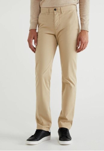 United Colors of Benetton brown Stretch Slim Fit Chinos 2DBE2AABB7B9ABGS_1