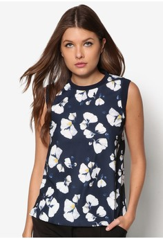 Collection Ribbed Printed Shell Top