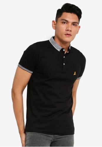 Brave Soul black Side Seam Polo Shirt 2BFFDAAB91D9C2GS_1