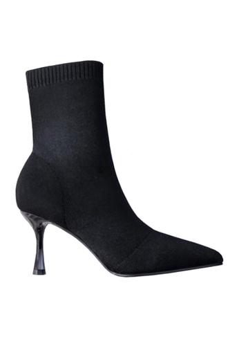 Twenty Eight Shoes black 16cm Socking Mid Boots VB8961 CEF58SH8EDE5D5GS_1